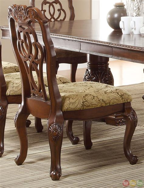 Marisol Cherry Finish Formal Dining Room Table Set | marisol cherry finish formal dining room table set