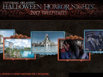 Universal Sweepstakes - universal orlando halloween horror nights 2017 sweepstakes