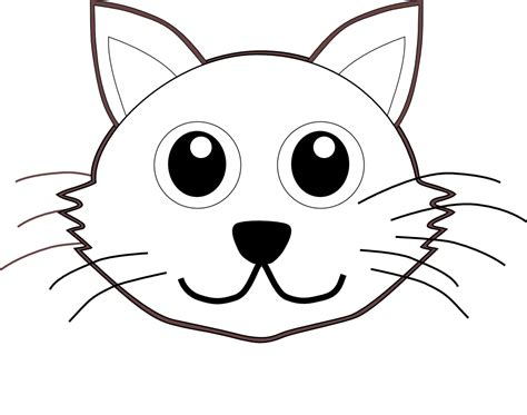 Kitten Face Coloring Page | draw 60 cartoon cat face cool things to draw