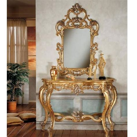 Vanity Gold by Luxurious Gold Style Vanity Set Reproduction