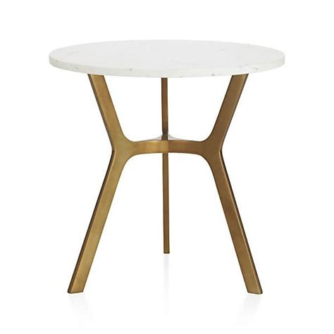 white top side table elke gold and white side table