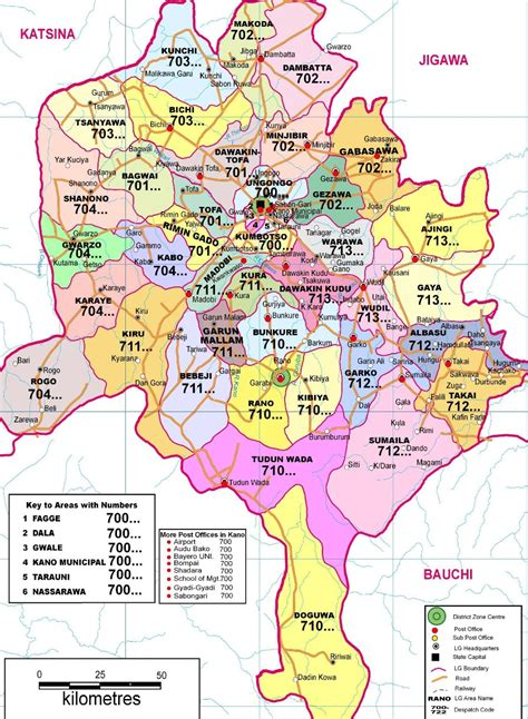 us government area code local government areas in kano state