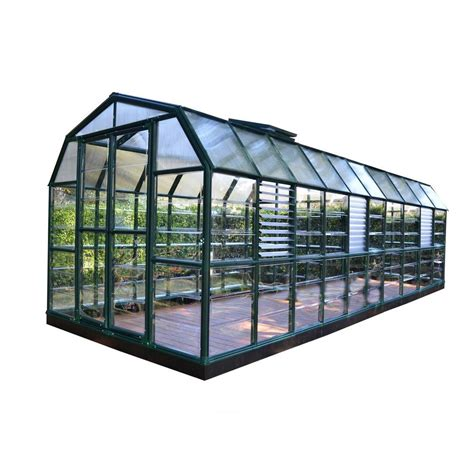 rion prestige 8 ft x 20 ft clear greenhouse 702507 the