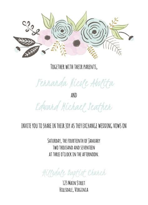wedding template 17 best ideas about invitation templates on