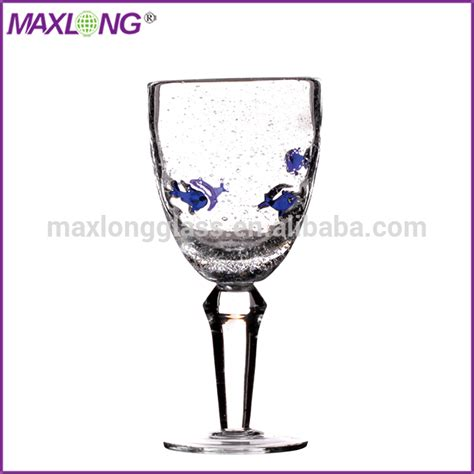thick stem wine glasses handmade thick stem red wine glass with fish products