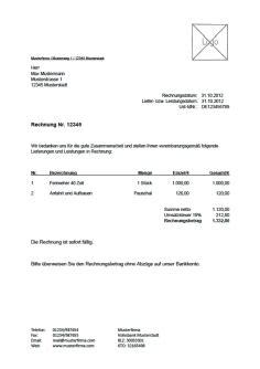 Vorlage Rechnung Ohne Ust rechnungsvorlage musterrechnung kostenlos lexoffice