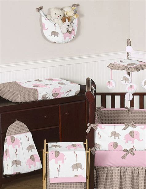 Pink Elephant Crib Bedding Unique Discount Pink And Brown Mod Elephant Designer Baby Crib Bedding Set Ebay