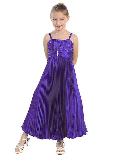 Purple Satin Dress purple shiny satin pleated dress