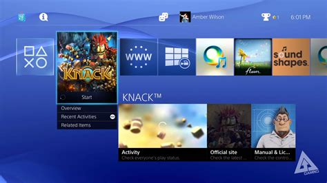 ps4 interface themes ps4 ui walkthrough menus friends profile playstation