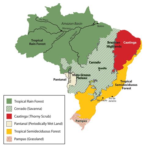 geographical map of brazil 6 3 brazil world regional geography places and