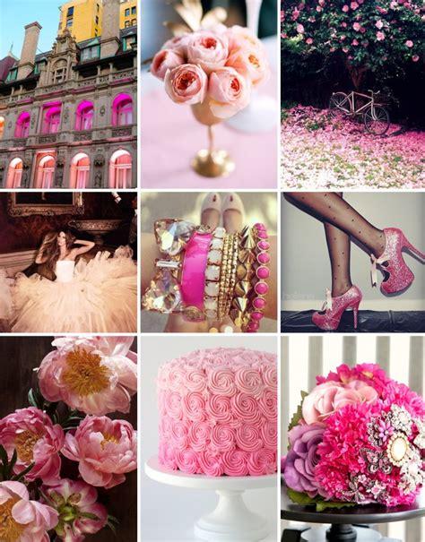 color inspiration pink brown pink on pink wedding color inspiration