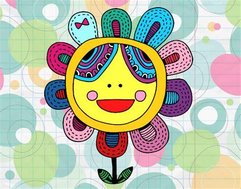 fiori patchwork disegno fiore patchwork colorato da elyfanvij il 13 di