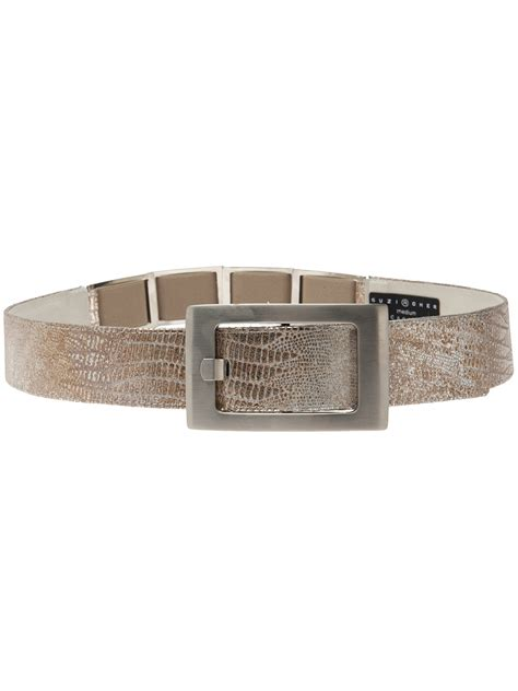 Striking Suzi Roher Metal Resin Stretch Belt On Sale by Suzi Roher Medium Width Pant Belt In Gold Lyst