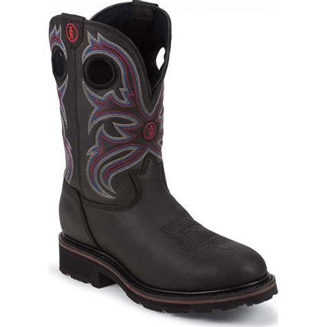 tony lama work boots tony lama 3r steel toe waterproof western work boot tlrr3209