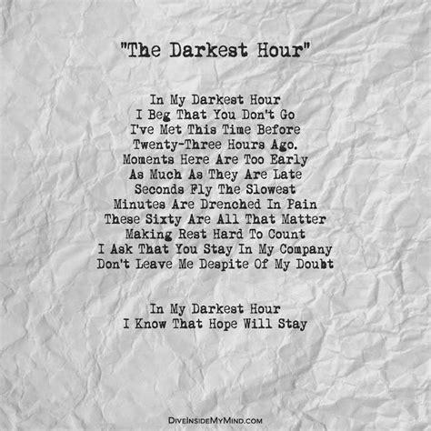 darkest hour duration dive inside my mind the darkest hour