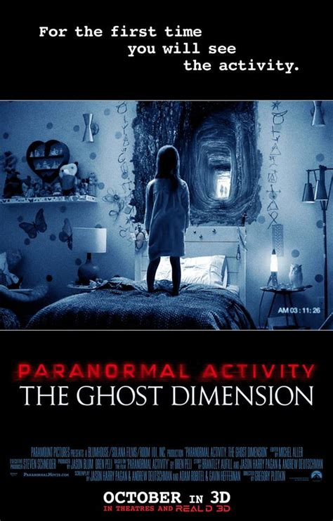 film ghost dimension official poster for paranormal activity the ghost