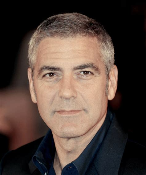 George Clooney Hairstyle by George Clooney Formal Hairstyle Light