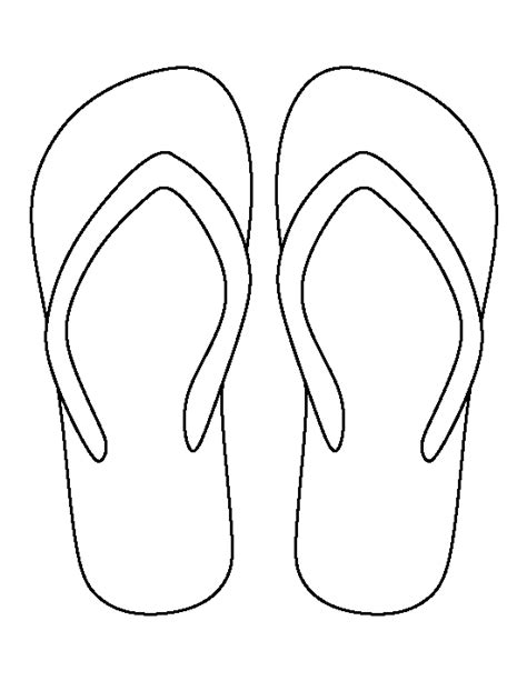 flip flop template flip flop cut out pattern pictures to pin on