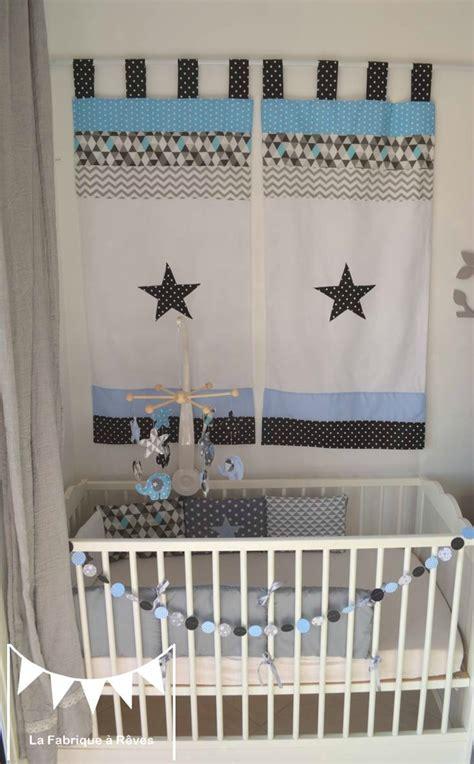Rideau Gris Enfant by Rideau Paire D 233 Coration Chambre Enfant B 233 B 233 Bleu Gris Noir