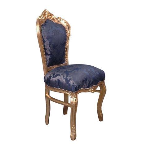 chaise bleue chaise baroque bleue style rococo
