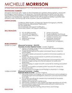ultrasound technician cv template ultrasound technician