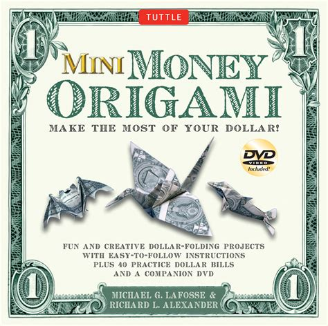 Dollar Bill Origami Book - mini money origami kit book summary official