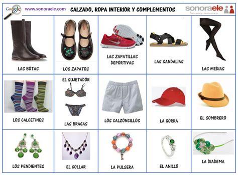 imagenes de ropa en ingles y español 1000 images about spanish clothing unit on pinterest