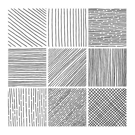 svg pattern hatching vector collection ink hand drawn hatch texture stock