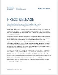 Press Release Templates Free by Press Release Template 15 Free Sles Ms Word Docs