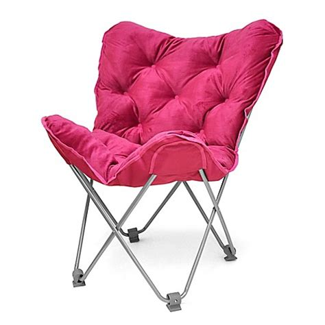 pink butterfly chair bed bath and beyond tufted folding butterfly chair in fuchsia bed bath beyond