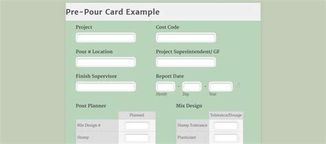 concrete pour card template use a pre pour checklist on your next concrete pour