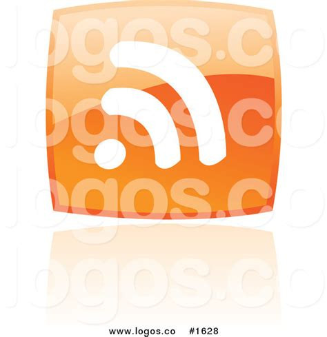 orange podcast royalty free vector square orange podcast logo by cidepix