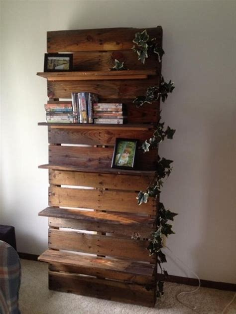 Wood Pallet Shelf by Its Easy To Create Pallet Wood Shelves Wood Pallet Ideas