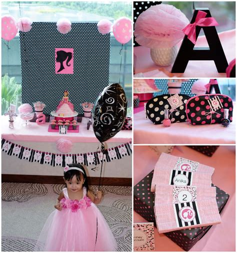 barbie themed birthday party barbie themed birthday party via kara s party ideas