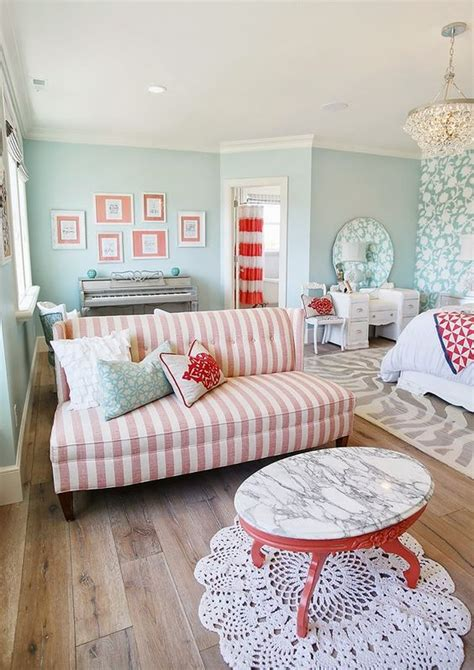 coral aqua bedroom sitting area beautiful bedrooms pinterest turquoise house