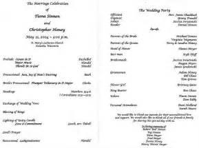 Wedding program wording the wedding specialiststhe wedding
