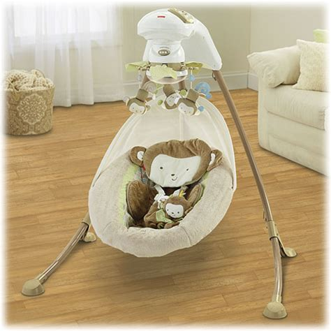 fisher price cradle swing monkey my little snugamonkey special edition cradle n swing