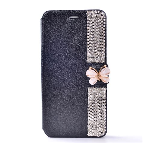 for iphone 6s 7 7 plus bling magnetic flip leather stand wallet card cover