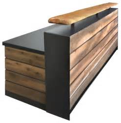 Wood Reception Desk Reclaimed Distressed Wood Reception Desk 4 Rustic Desks And Hutches By Design