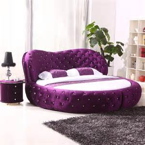 circle bed for sale luxury home furniture bed with crystals and led