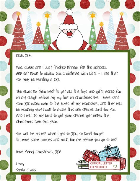 printable holiday letters printable blank santa claus free large images pinteres