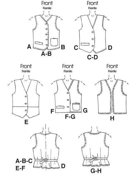 free printable vest sewing pattern mccall s 6229 children s boys girls lined vests