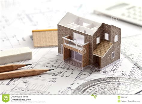 create a house plan house design drawing stock image image 33370481