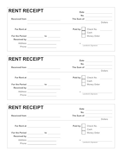 tenant receipt template rental receipts format hunecompany