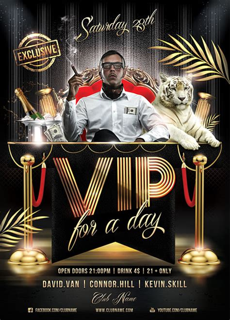template flyer vip vip for a day flyer template by brielldesign on deviantart