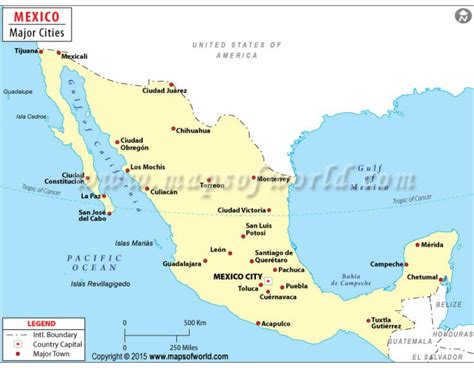 mexico major cities map buy mexico map with cities