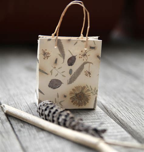 Handmade Craft Bags - nature handmade paper gift bag