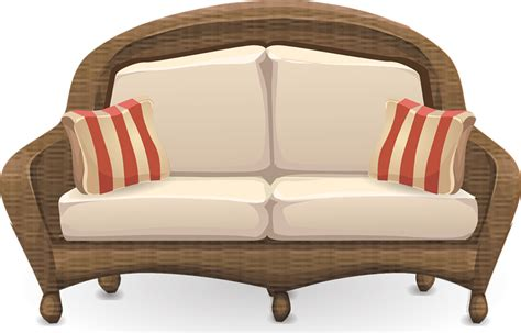 free loveseat free wooden sofa clip art