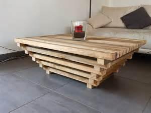 table basse pyramidale en bois non trait 233 meubles et
