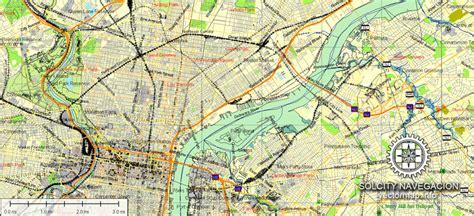 usa map philadelphia philadelphia printable atlas 49 parts vector map